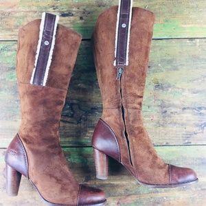UGG Tess Suede Tall Heeled Calf Boots